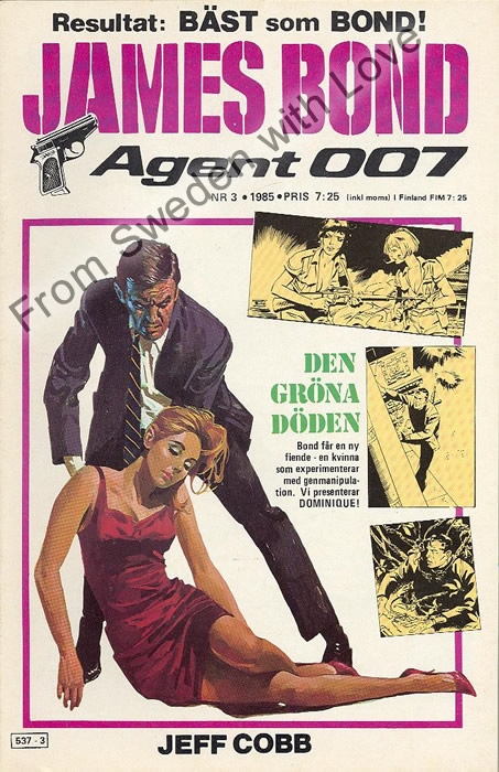 AGENT JAMES BOND 007 no 3 of 8, 1985