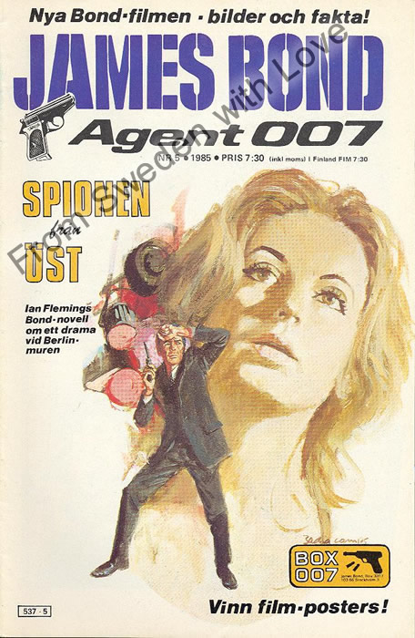 AGENT JAMES BOND 007 no 5 of 8, 1985