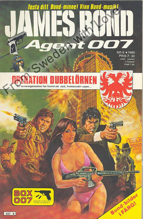 AGENT JAMES BOND 007 no 8 of 8, 1985