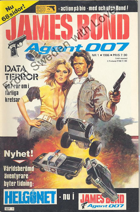 AGENT JAMES BOND 007 no 1 of 12, 1986