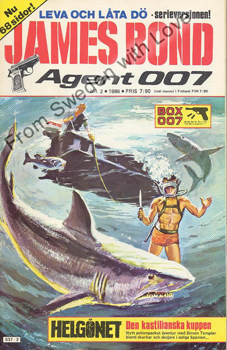 AGENT JAMES BOND 007 no 2 of 12, 1986