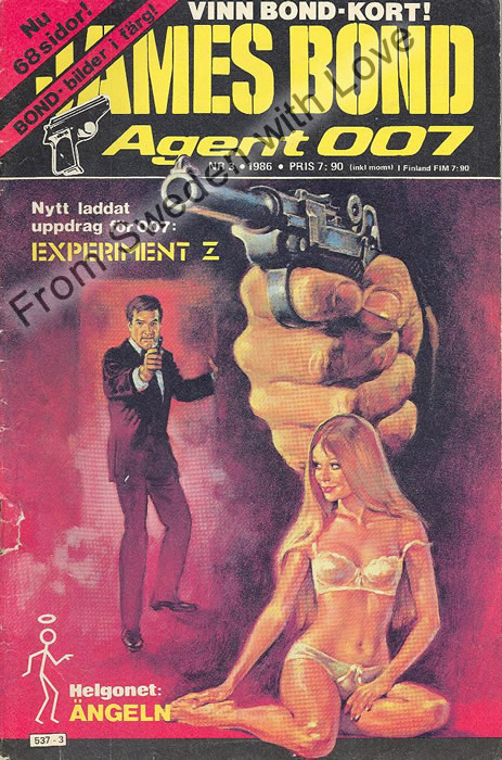 AGENT JAMES BOND 007 no 3 of 12, 1986