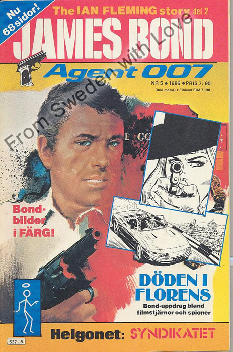 AGENT JAMES BOND 007 no 5 of 12, 1986