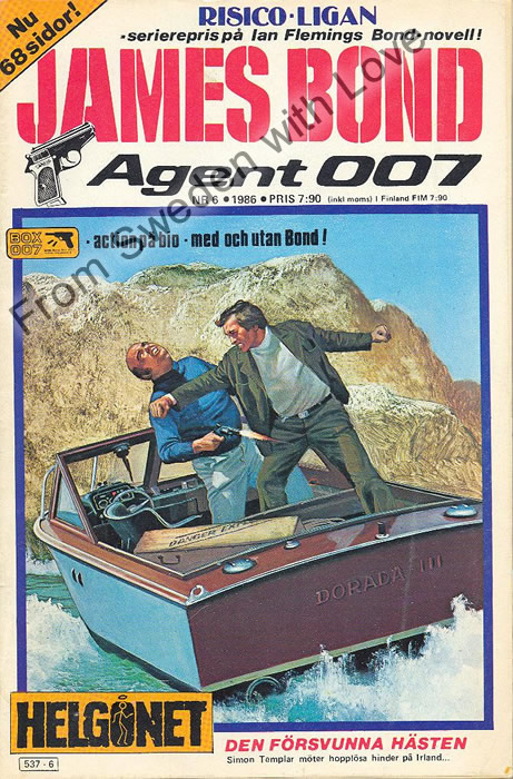AGENT JAMES BOND 007 no 6 of 12, 1986
