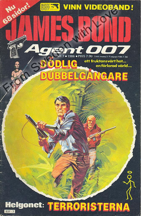 AGENT JAMES BOND 007 no 7 of 12, 1986