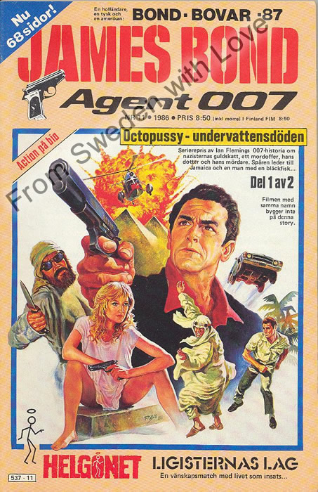 AGENT JAMES BOND 007 no 11 of 12, 1986