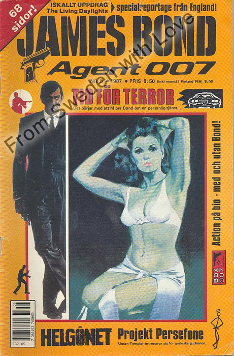 AGENT JAMES BOND 007 no 5 of 12, 1987