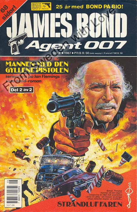 AGENT JAMES BOND 007 no 8 of 12, 1987