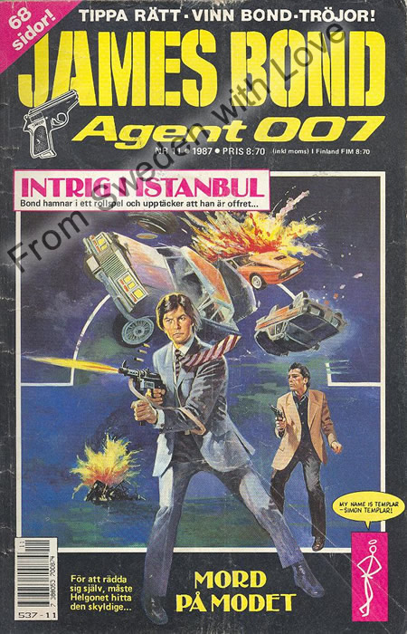 AGENT JAMES BOND 007 no 11 of 12, 1987
