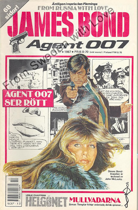 AGENT JAMES BOND 007 no 12 of 12, 1987