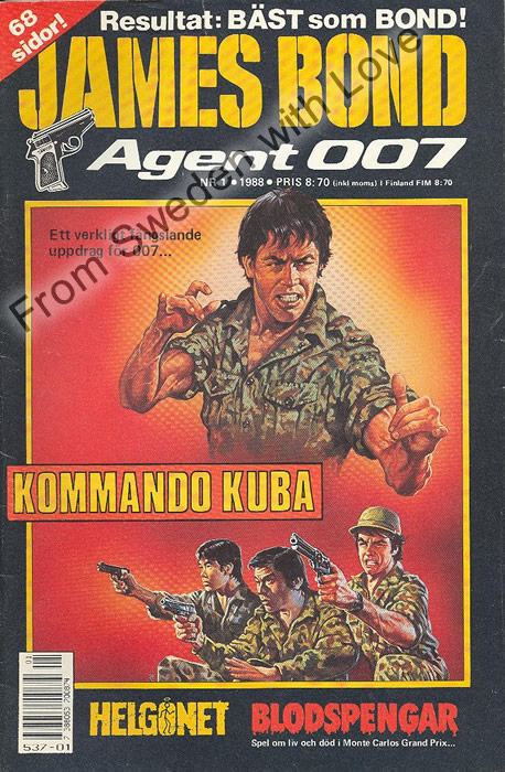 AGENT JAMES BOND 007 no 1 of 12, 1988