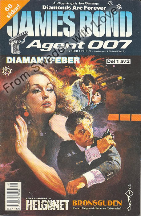 AGENT JAMES BOND 007 no 5 of 12, 1988