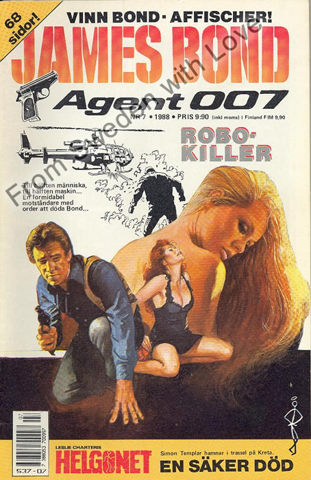 AGENT JAMES BOND 007 no 7 of 12, 1988
