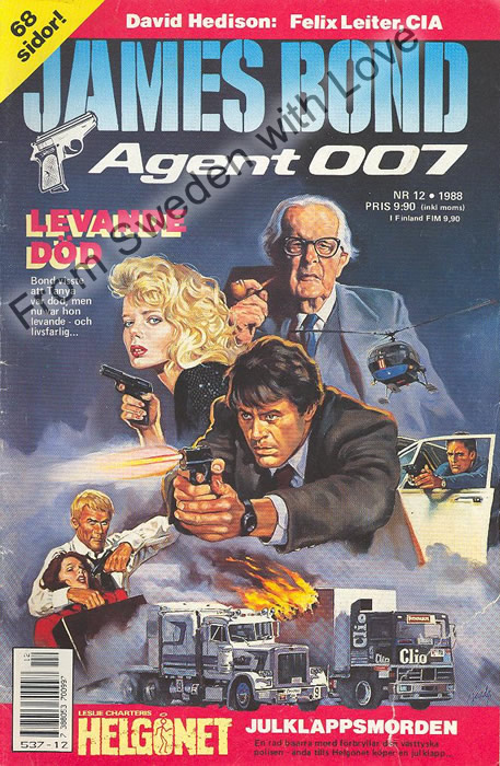 AGENT JAMES BOND 007 no 12 of 12, 1988