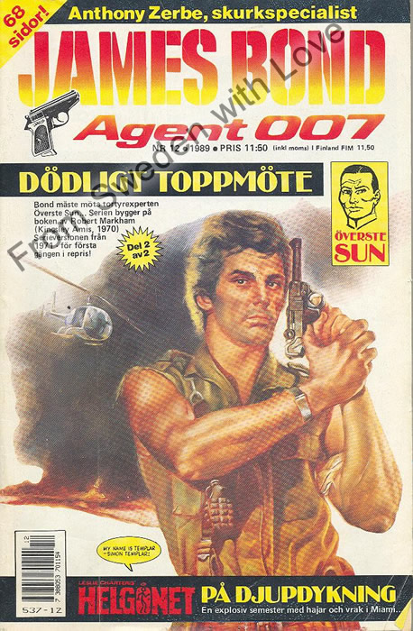 AGENT JAMES BOND 007 no 12 of 12, 1989