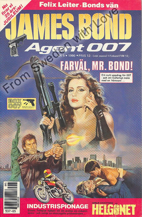 AGENT JAMES BOND 007 no 5 of 12, 1990