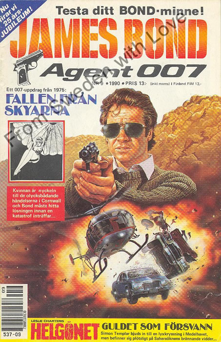 AGENT JAMES BOND 007 no 9 of 12, 1990