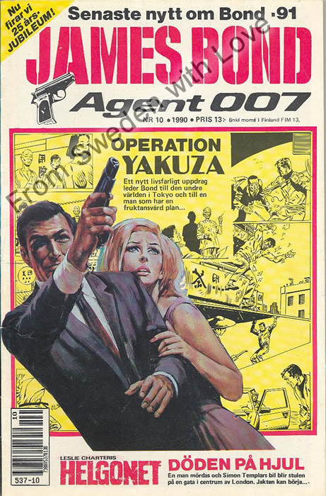 AGENT JAMES BOND 007 no 10 of 12, 1990