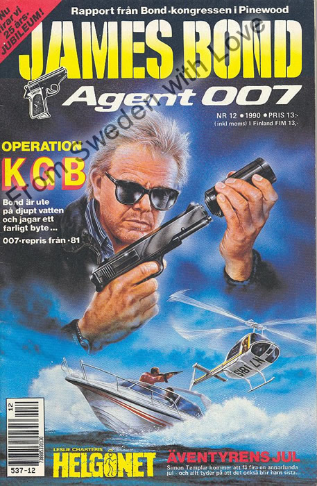 AGENT JAMES BOND 007 no 12 of 12, 1990