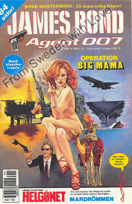 AGENT JAMES BOND 007 no 1 of 6, 1991