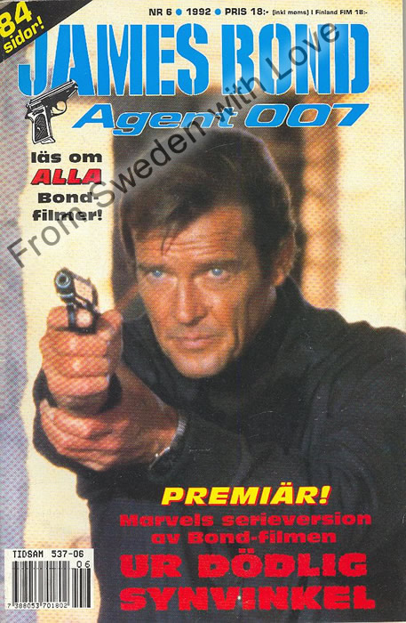 AGENT JAMES BOND 007 no 6 of 6, 1992