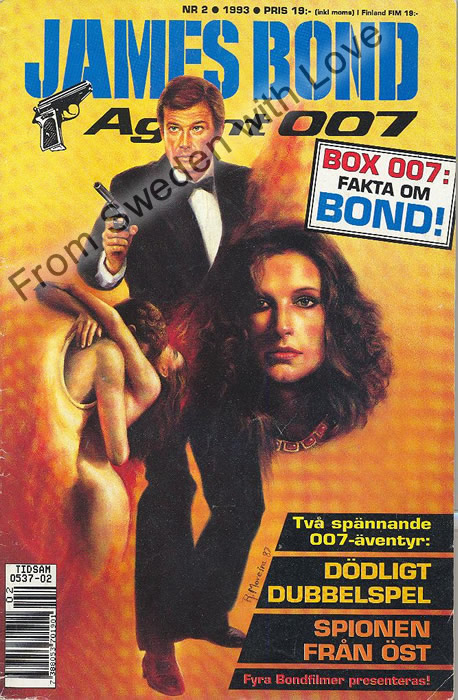 AGENT JAMES BOND 007 no 2 of 6, 1993