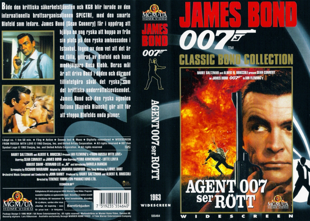 Agent 007 ser rött (From Russia with Love) Widescreen