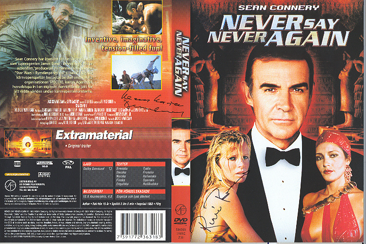 Never Say Never Again (1983) region 2