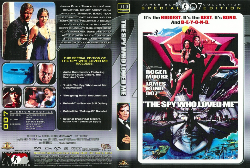 Älskade spion (The Spy Who Loved Me) region 2