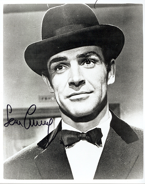 Sir Sean Connery, in person in London 10x8 black and white photo