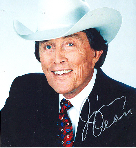 Jimmy Dean Signed 10x8 inch photo