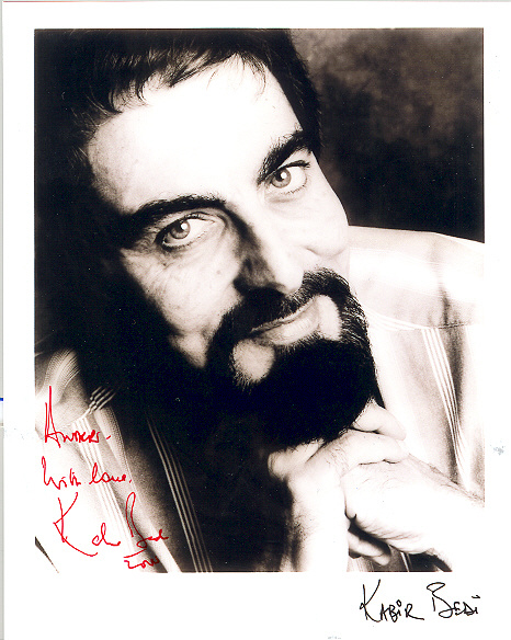 Kabir Bedi black and white
