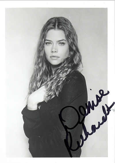 Denise Richards Black and white