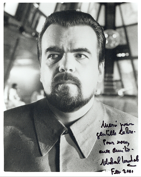 Michael Lonsdale 10x8 inch, black and white