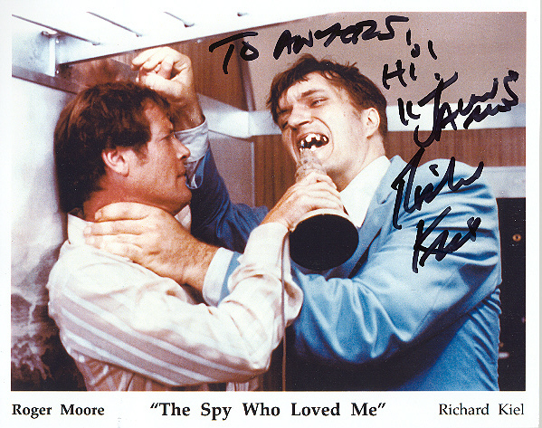 Richard Kiel, pictured with Sir Roger Moore Colour edition