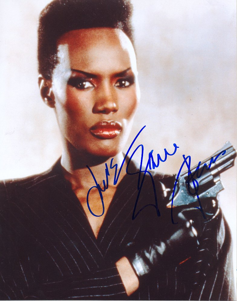 Grace Jones, in person at Broadway NY online catalogue no 4457