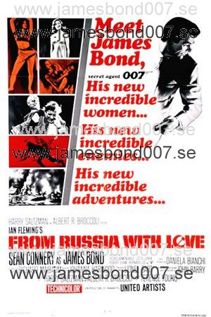 From Russia with Love (Agent 007 ser rött) Reproduktion