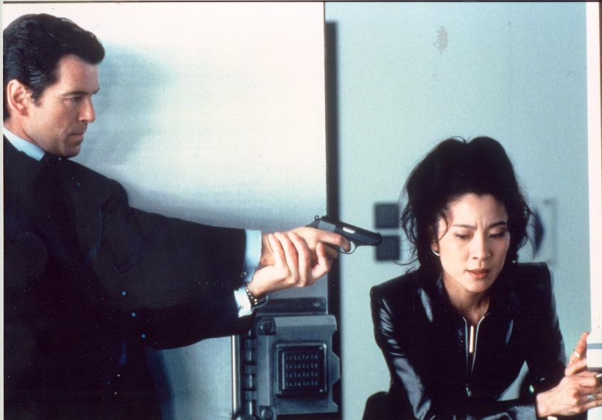 Pierce Brosnan and Michelle Yeoh Colour edition