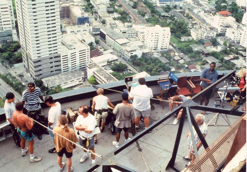 Behind the scenes on roof in Thailand 10407, photo taken by George Whitear