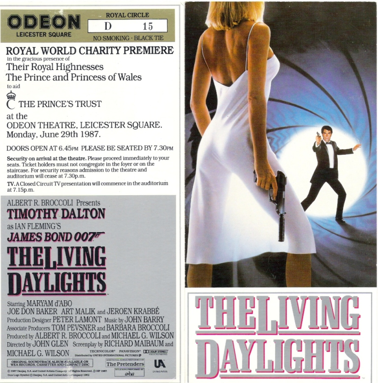 The Living Daylights (1987) Original