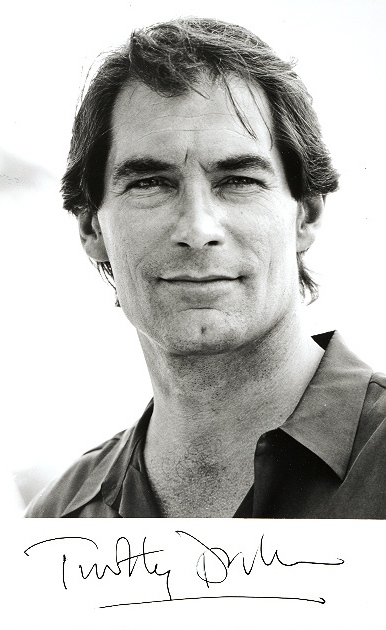 Timothy Dalton Signed 7x5 inch photo