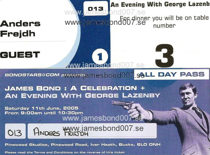 An evening with George Lazenby genuine