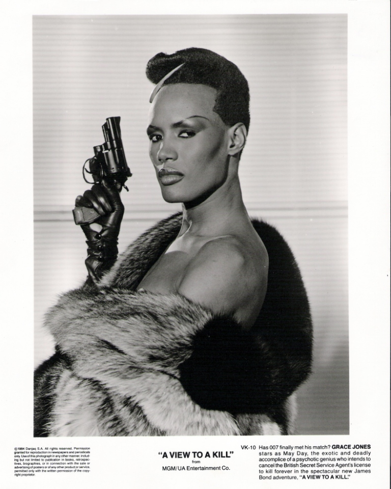 Grace Jones aka May Day Svartvit