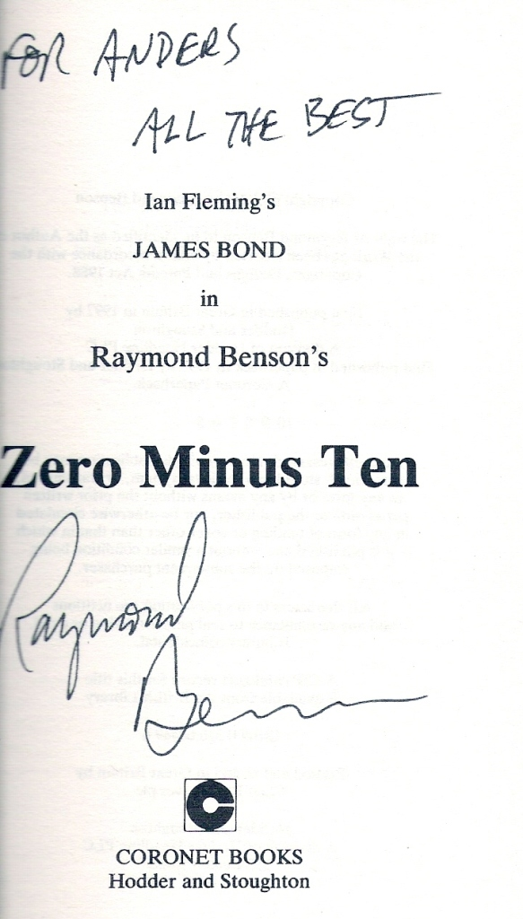 Raymond Benson Directly from him