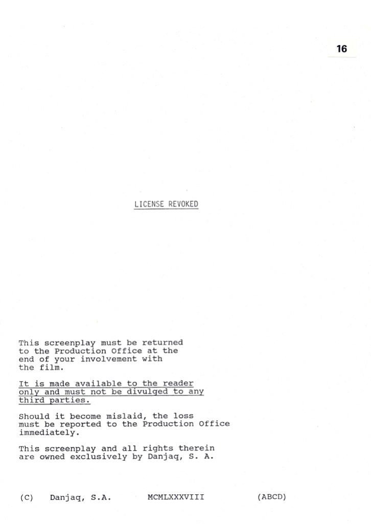 Original screenplay Original version