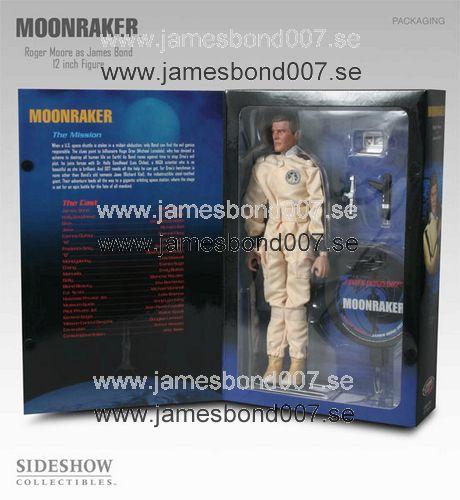 Roger Moore as James Bond in Moonraker 12 inch size, 1 of 3000