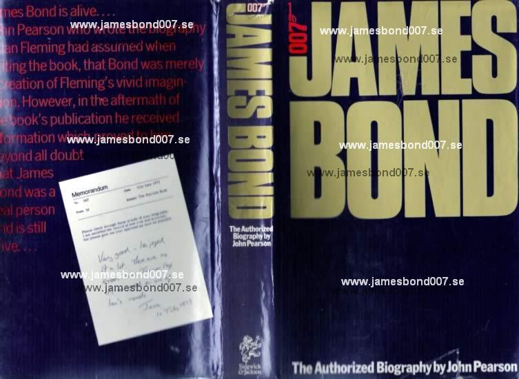 James Bond the authorized biography of 007 John Pearson