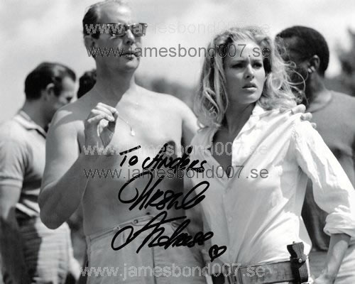 Ursula Andress, pictured with Terence Young Colour edition