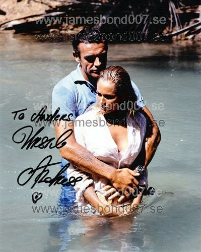 Ursula Andress, fotad med Sir Sean Connery Färg