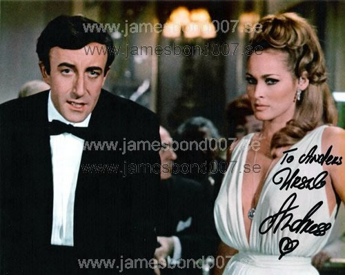 Ursula Andress, pictured with Peter Sellers Colour edition